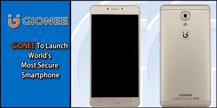 GiONEE To Launch World's Most Secure Smartphone.