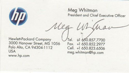Meg Whitman: Hewlett Packard