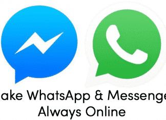 How To Stay Online All Time In WhatsApp and FB Messenger