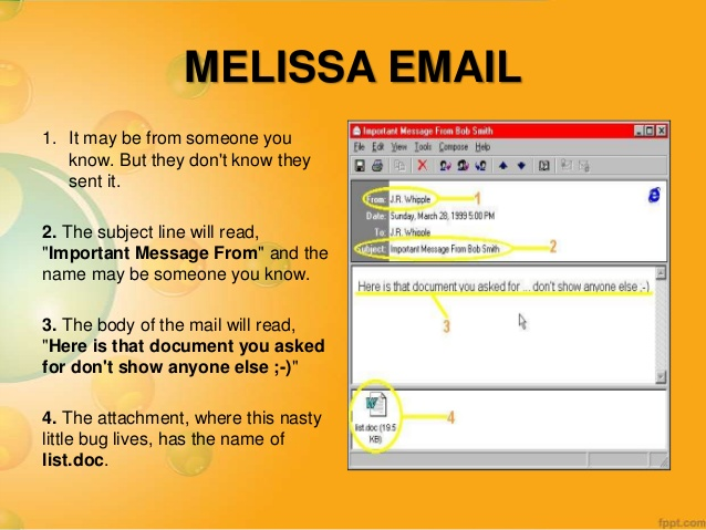 Image result for email virus melissa