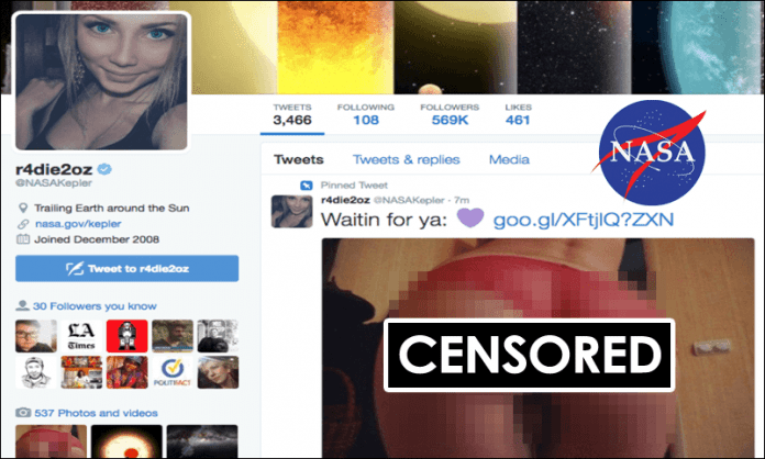 NASA gets Hacked, Tweets Photo of Woman's Butt