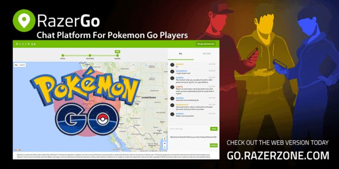 RazerGo The Chat Platform For Pokemon Go Players