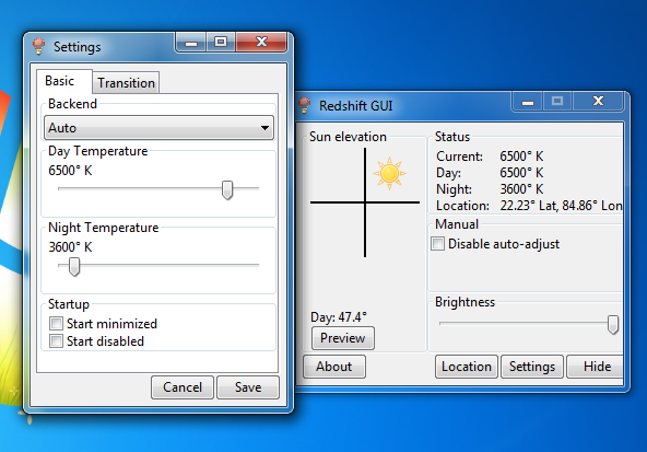 Using RedshiftGui