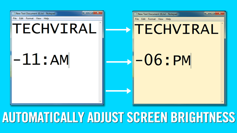 How To Adjust Computer Brightness Automatically Based On Time Of The Day