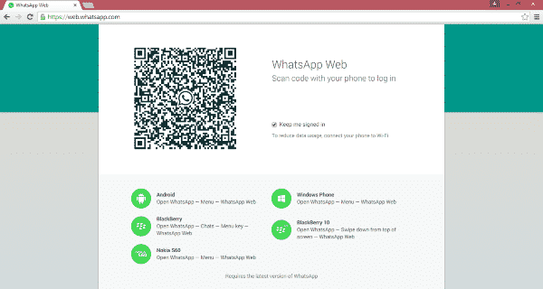 Using WhatsApp Web/Desktop App