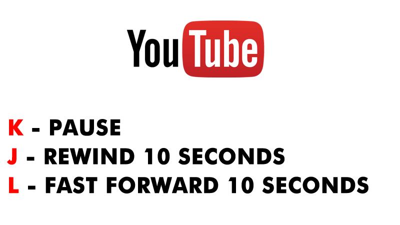 اختصارات يوتيوب