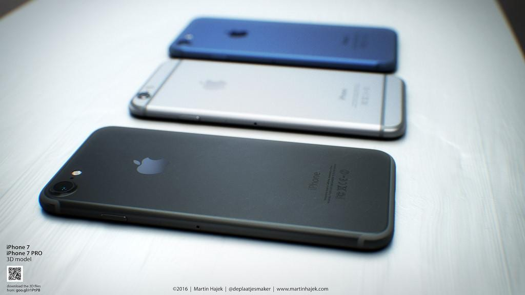Martin Hajek's iPhone 7 renders