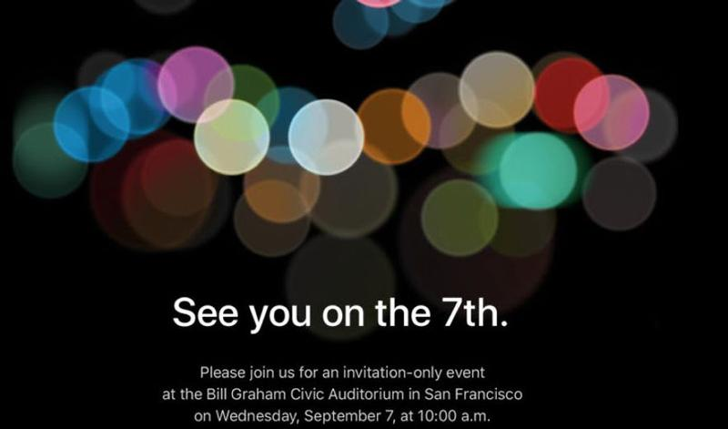Apple Officially Confirms September 7 Event For iPhone 7