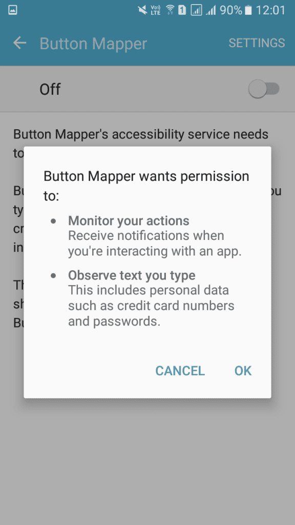 Using Button Mapper