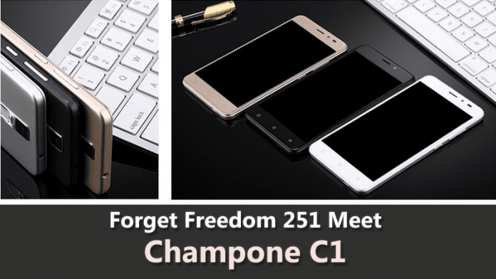 Champone C1: Fingerprint Scanner, 2GB RAM, 4G LTE at Rs 501