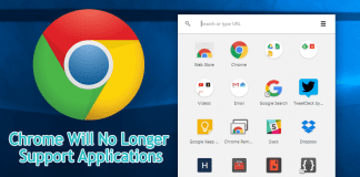 Chrome Will No Longer Support Applications In The Browser