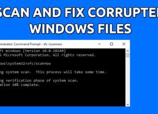 How To Scan and Fix Corrupted Windows Files