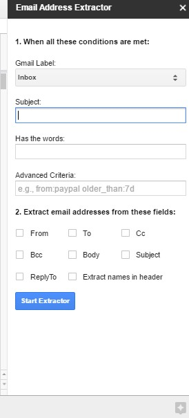 Extract Email Addresses From Email