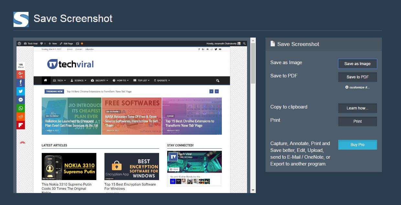 how to take a screenshot of a whole webpage