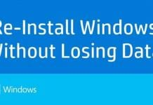 How To Reinstall Windows Without Losing Data