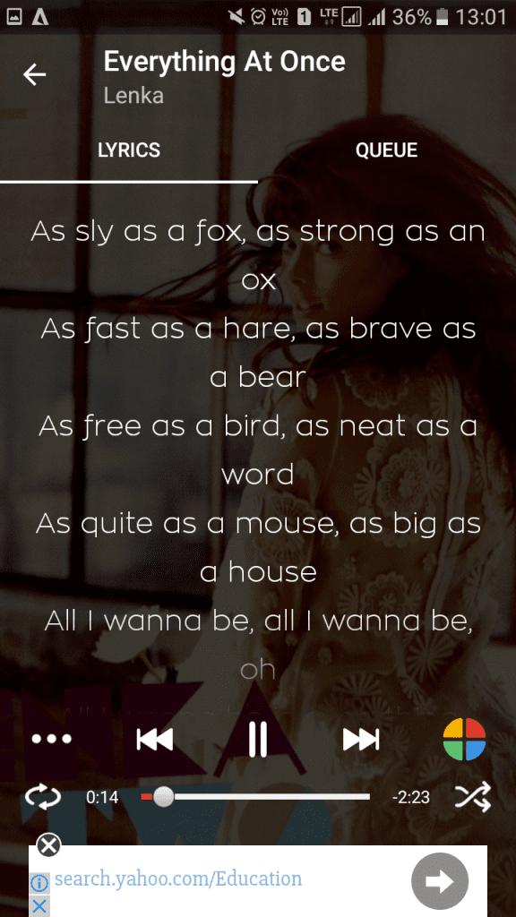 Using Lyrics Mania