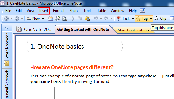 Using Microsoft OneNote