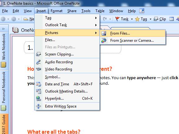 Using Microsoft OneNote