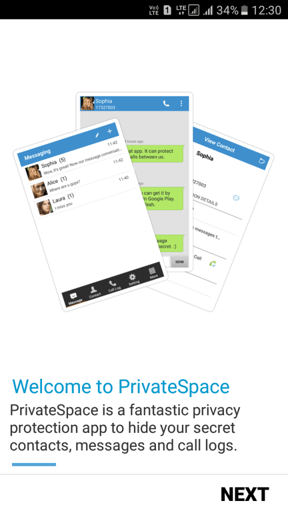 Using Private SMS & Call - Hide Text