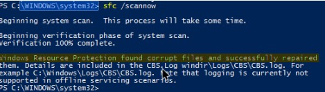 Scan and Fix Corrupted Windows Files