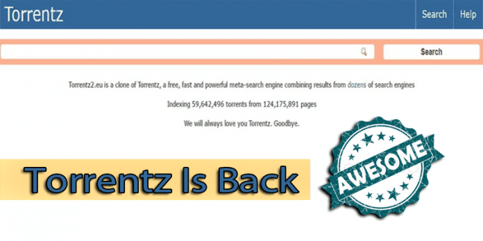 Torrentz Is Back Again With A New Avatar
