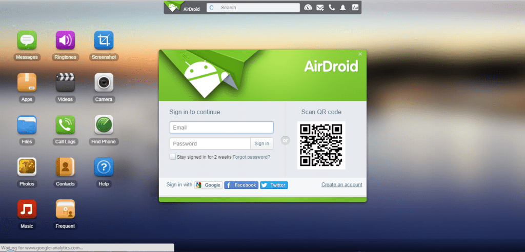 Using Airdroid