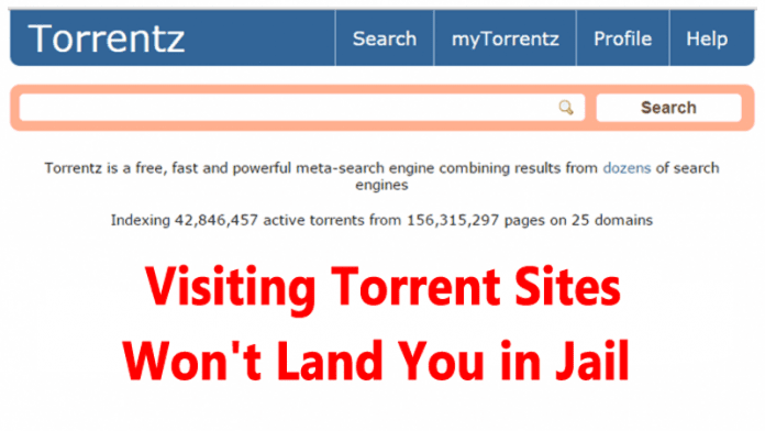 No Worries! Visiting Torrent Sites Won't Land You in Jail