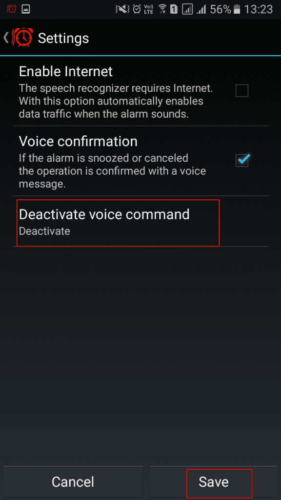 Using Voice Snooze Alarm