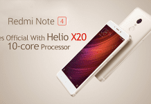 Xiaomi Redmi Note 4 Goes Official With 10-core Helio X20 Processor