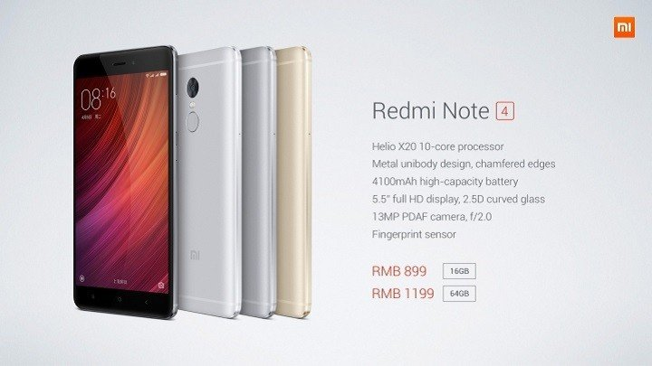 Xiaomi Redmi Note 4 Goes Official