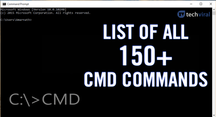 Here's The List of All 150+ CMD Commands For Your Windows