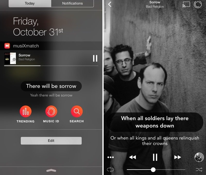 Automatically Play Music with Lyrics in iPhone