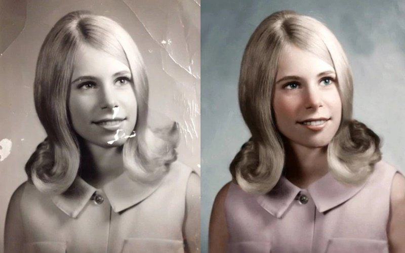 Colorize the black and white photos