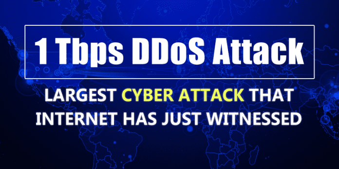 Hackers Creates History, Launches World's Largest 1Tbps DDoS Attack