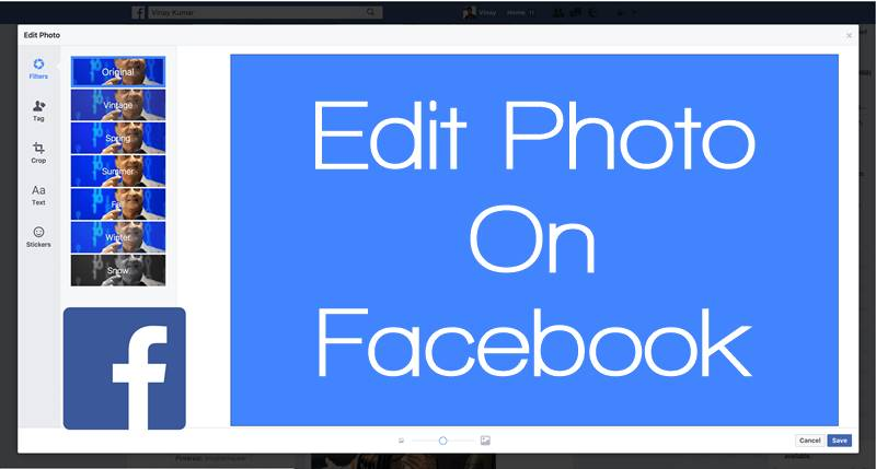 Edit photo on facebook - 50+ Best Facebook Tricks and Facebook Hacks 2019
