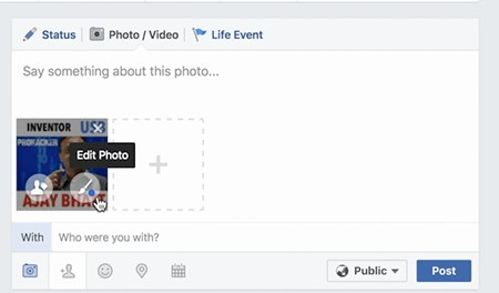 Edit your Photo on Facebook Website and App