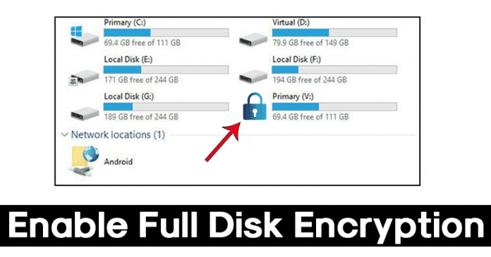 How to Enable Full Disk Encryption in Windows 10