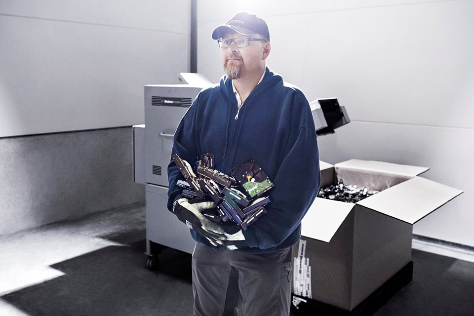 """""""It is important for people to know that nothing leaves the site and their data is safe. The old drives are destroyed."""" - Christer Jonsson, Server Technician"""