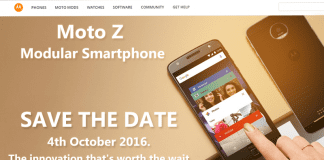 Moto Z Modular Smartphone Coming in India on October 4
