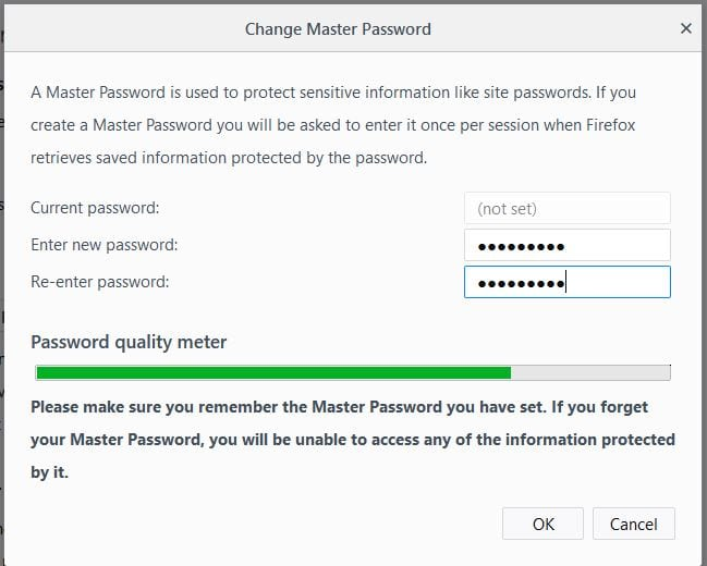 Master Password In Mozilla Firefox Quantum
