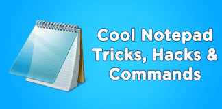 Cool Notepad Tricks, Hacks & Commands