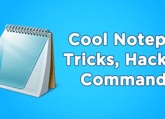 Cool Notepad Tricks, Hacks & Commands