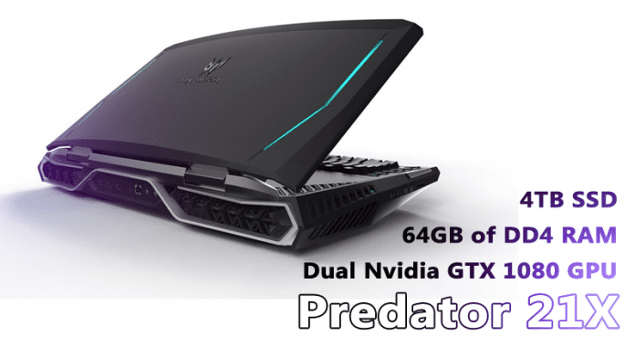 Meet Acer's Predator 21X: Gaming Laptop with Curved display