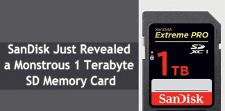 SanDisk Just Revealed The World's First 1TB SDXC Card