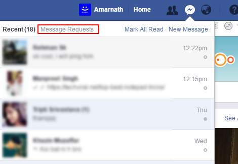 Facebook Hidden Inbox