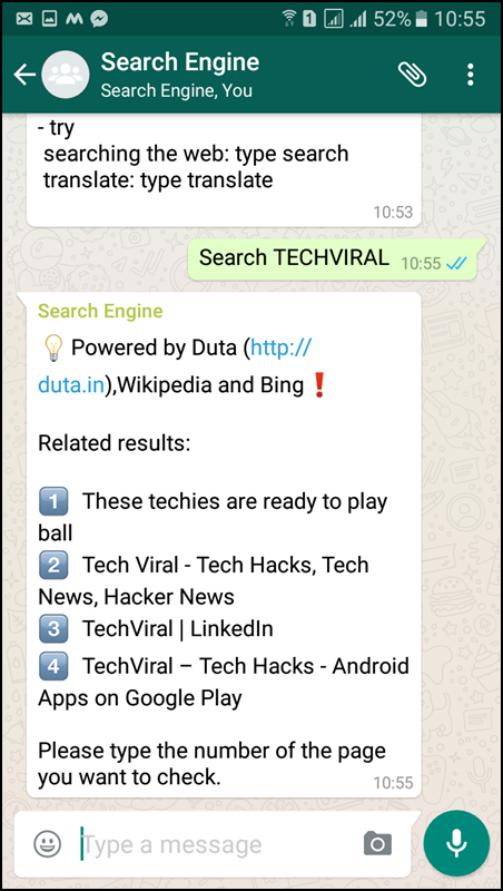 Activate WhatsApp Search Engine Bot