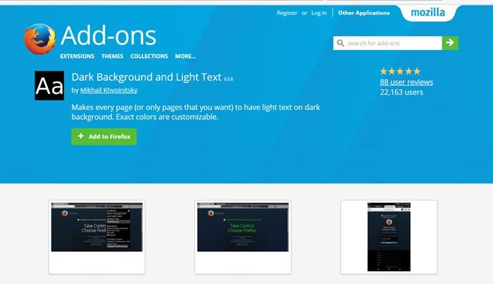 Add Night Dark Mode On Firefox Browser