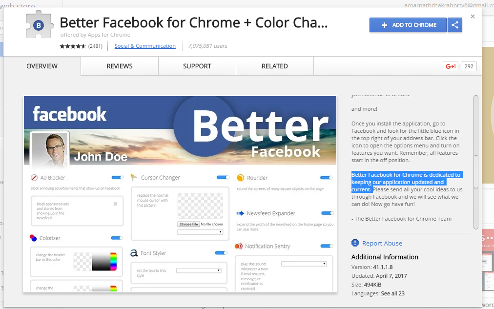 Better Facebook for Chrome