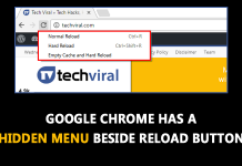 Do You Know Google Chrome Has A Hidden Menu Beside Reload Button?