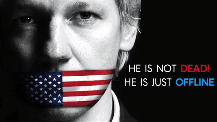 WikiLeaks' Julian Assange is not Dead, Just Offline